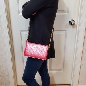 Authentic Louis Vuitton pink Vernis Lexington